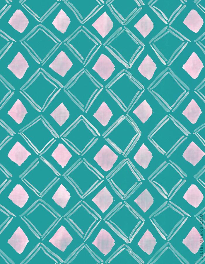 Watercolor diamonds pattern
