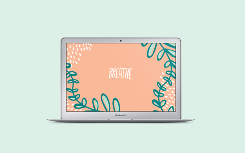 "Free ""Breathe"" Desktop Wallpaper"