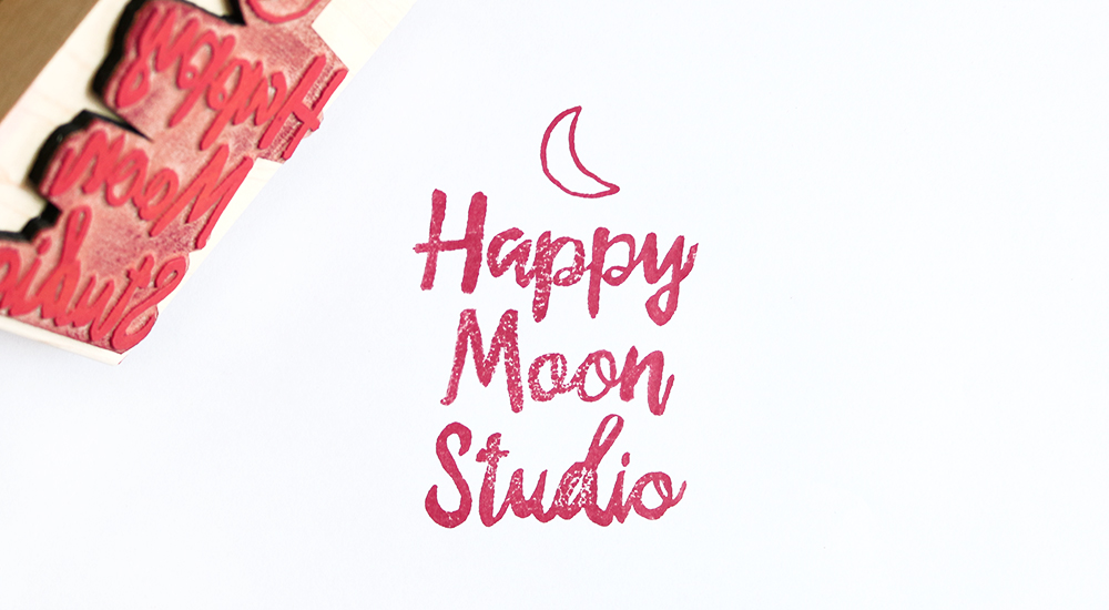 Happy Moon Studio branding by Juliet Meeks Design