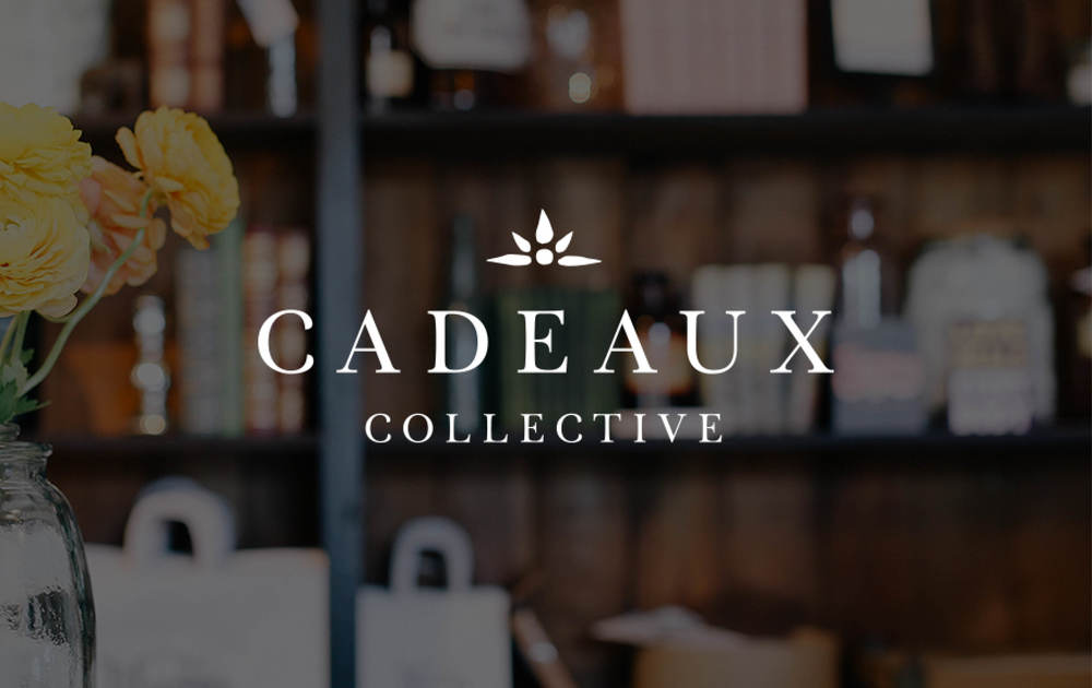 Cadeaux Collective branding and graphic design by Juliet Meeks Design - Logo for a fair trade and handmade boutique.