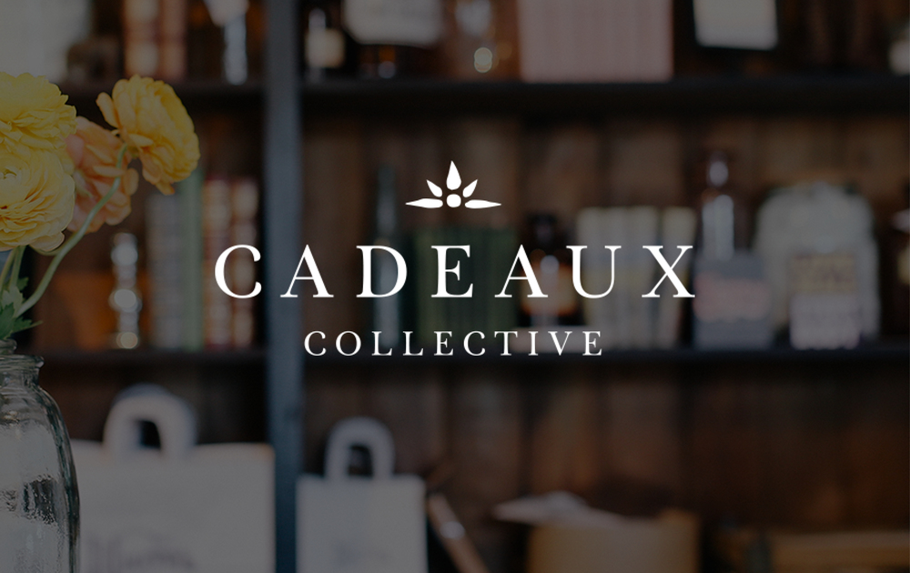 Cadeaux Collective Branding by Juliet Meeks Design | Refined yet with a handmade feel logo design and branding for a fair trade and handmade goods pop up boutique.