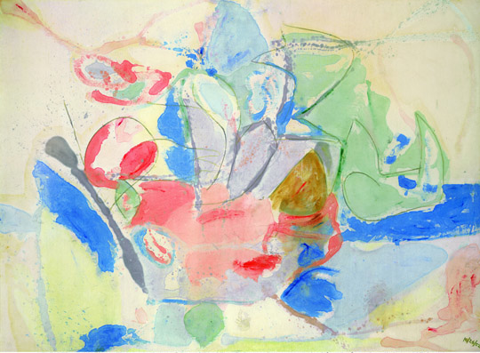 Helen Frankenthaler, Mountains and Sea, 1952  SOURCE