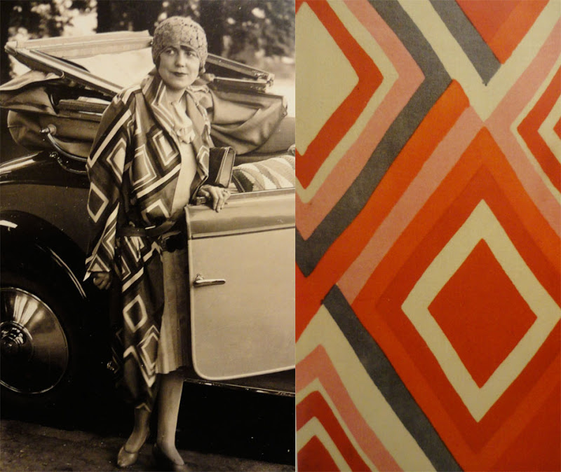 Sonia Delaunay coat design / Sonia designed clothing for select private clients in Paris