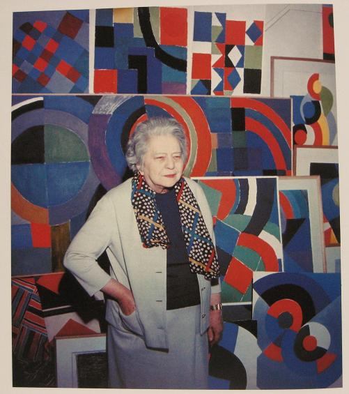 Sonia Delaunay with her work