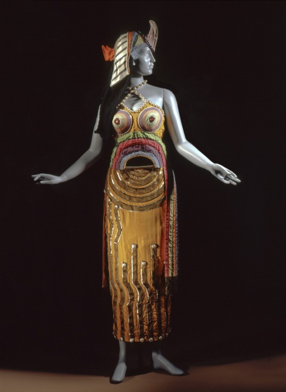Costume for 'Cléopâtre' in the Ballets Russes production of 'Cléopâtre' (Cleopatra) Sonia Delaunay (Russia, active France, 1885-1979)  Silk, sequins, mirror and beads, wool yarn, metallic thread braid, lamé /  source