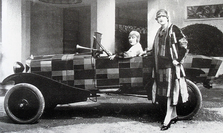 "Sonia Delaunay fashion design and ""art car"" design"