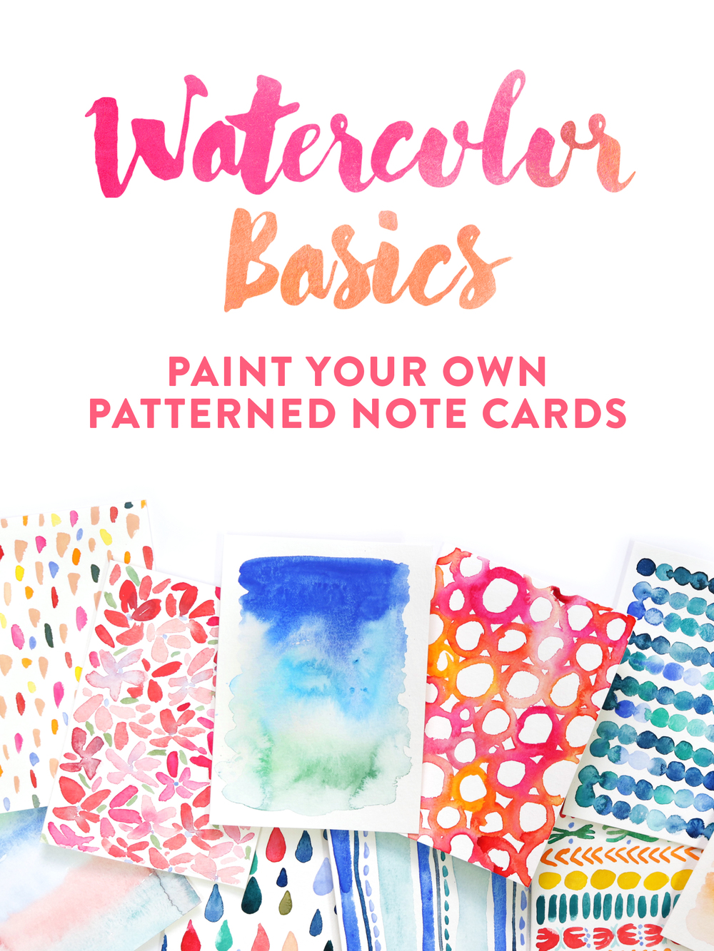Watercolor Basics: Paint Your on Patterned Note Cards Skillshare class by Juliet Meeks