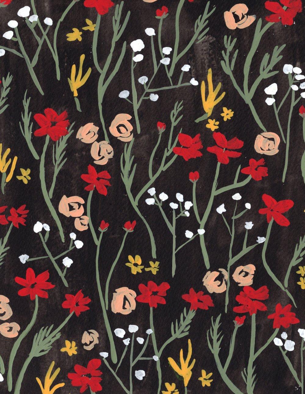 Juliet Meeks Floral Pattern