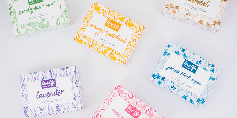 Love Life Soap Co. packaging by Juliet Meeks