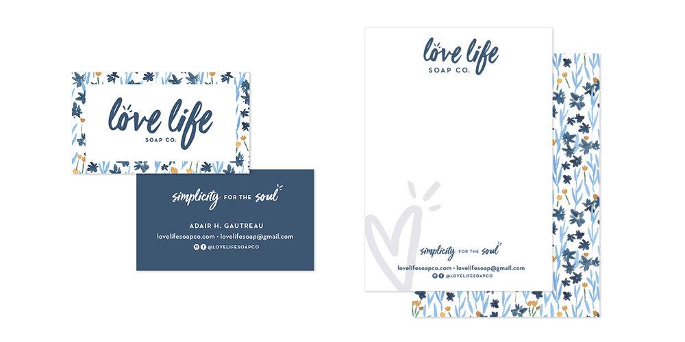 Love Life Soap Co. branding by Juliet Meeks