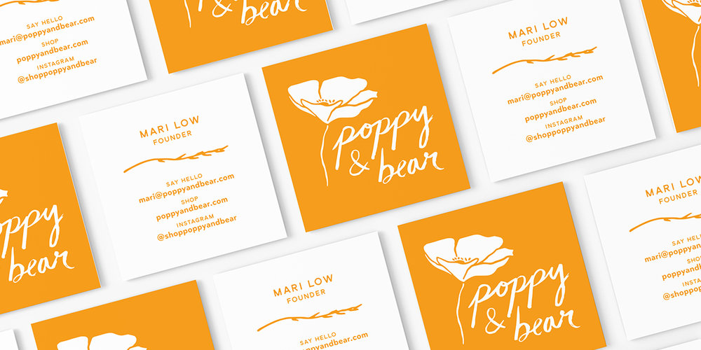 Poppy & Bear cards by Juliet Meeks