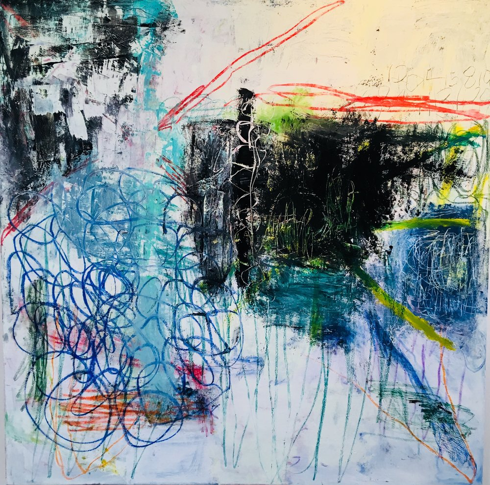 Tangle 72x72 in oil on canvas 2018