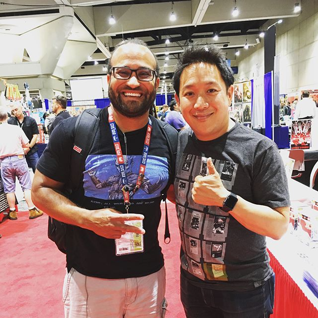 Just met the awesome that is @mingchen37 Can't wait for your show tomorrow night with @tellemants #sdcc2018 #comicbookmen #waltshouldfly #sdccpreviewnight #theusualpodcast