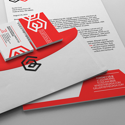 The Graphical Arts Gallery & Academy Branding