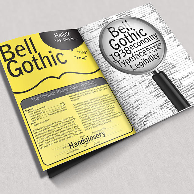 Bell Gothic Infographic Spread
