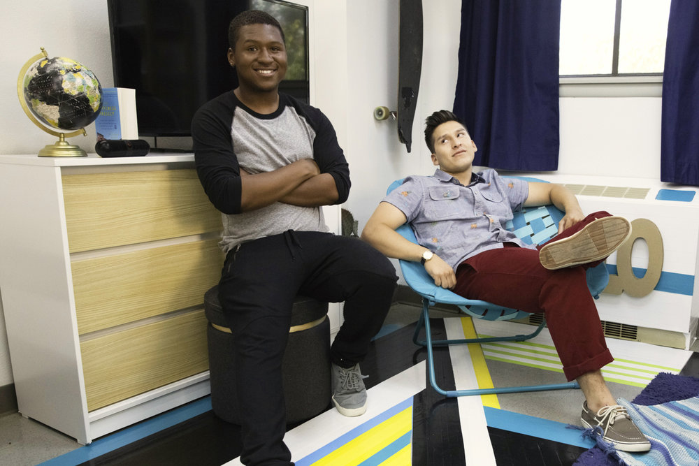 Meet Ronnie& Steven - Ronni & Steven have complete opposite tastes and lifestyles. As roommates sharing a tiny but common 120 sq. ft. dorm room, it's a real challenge to make the space feel stylish and comfortable for both of them.