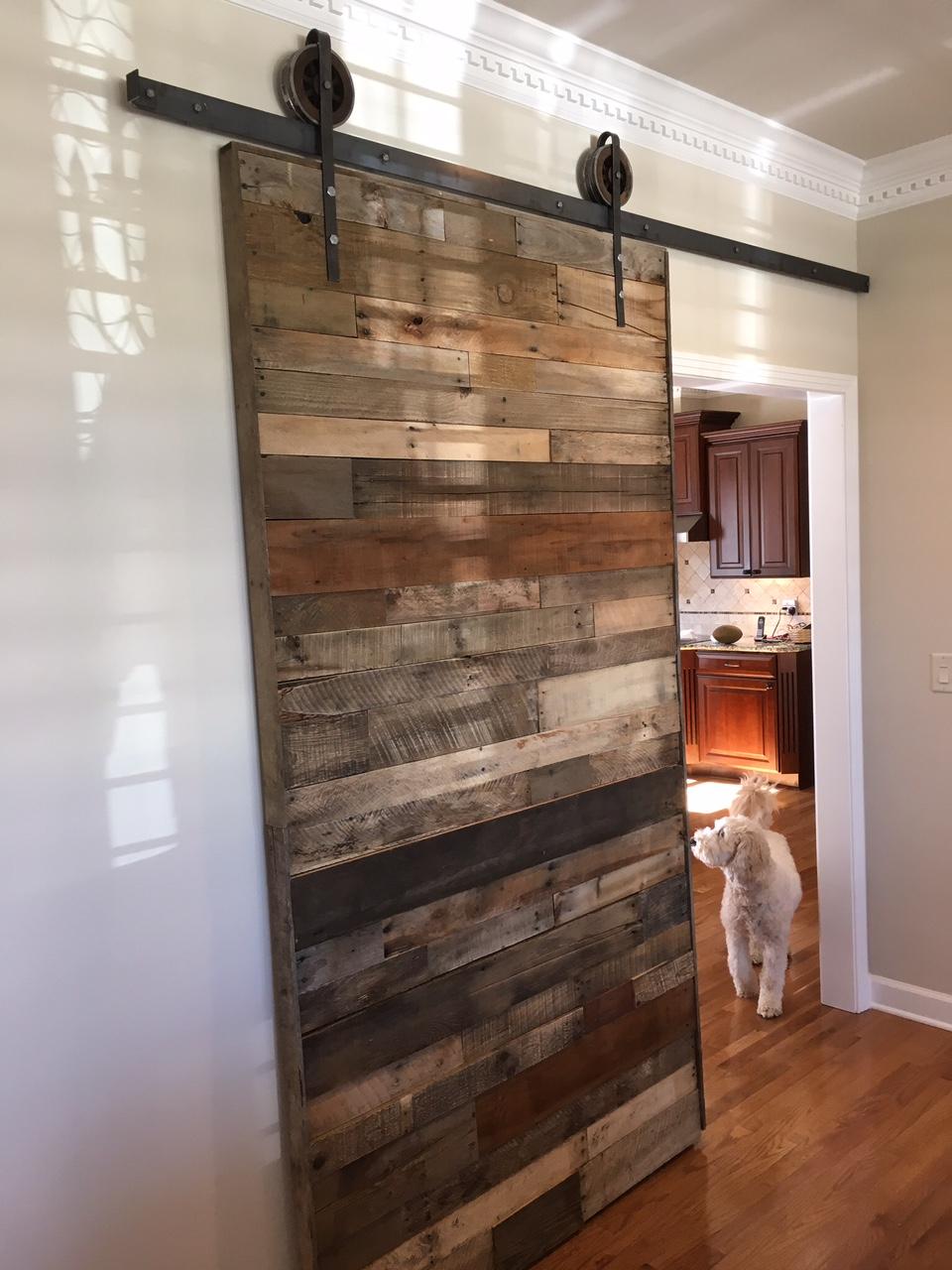 Single Door, Reclaimed Wood, Open Wheel Track