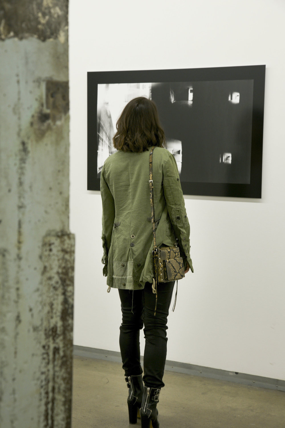 Greg Lauren Jacket, Studio A/W Bag, Club Monaco T-shirt, Robin's Jean Pants, Chloe Boots.
