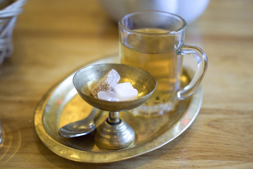 Mint tea, Mediterranean style.