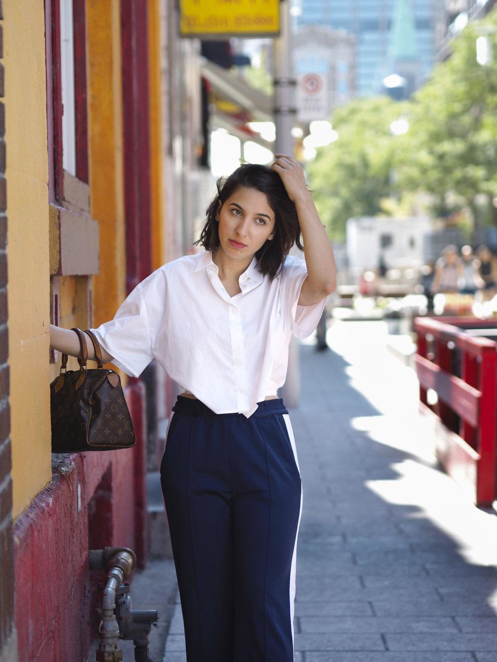 MSGM Shirt and Pants, Louis Vuitton Bag, Zara Shoes