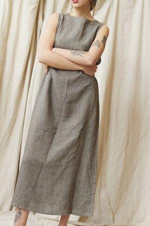 e12d5b1698ce Vintage Houndstooth Linen Market Dress marketdress2.jpg