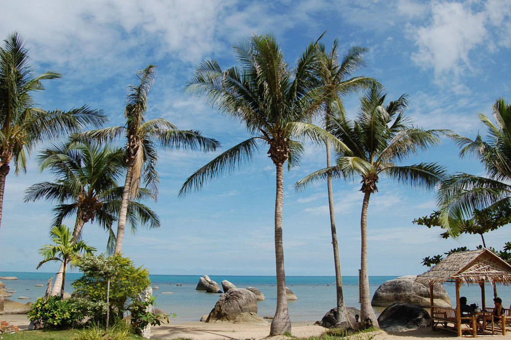 Lamai beach. Gotta love these remote places.