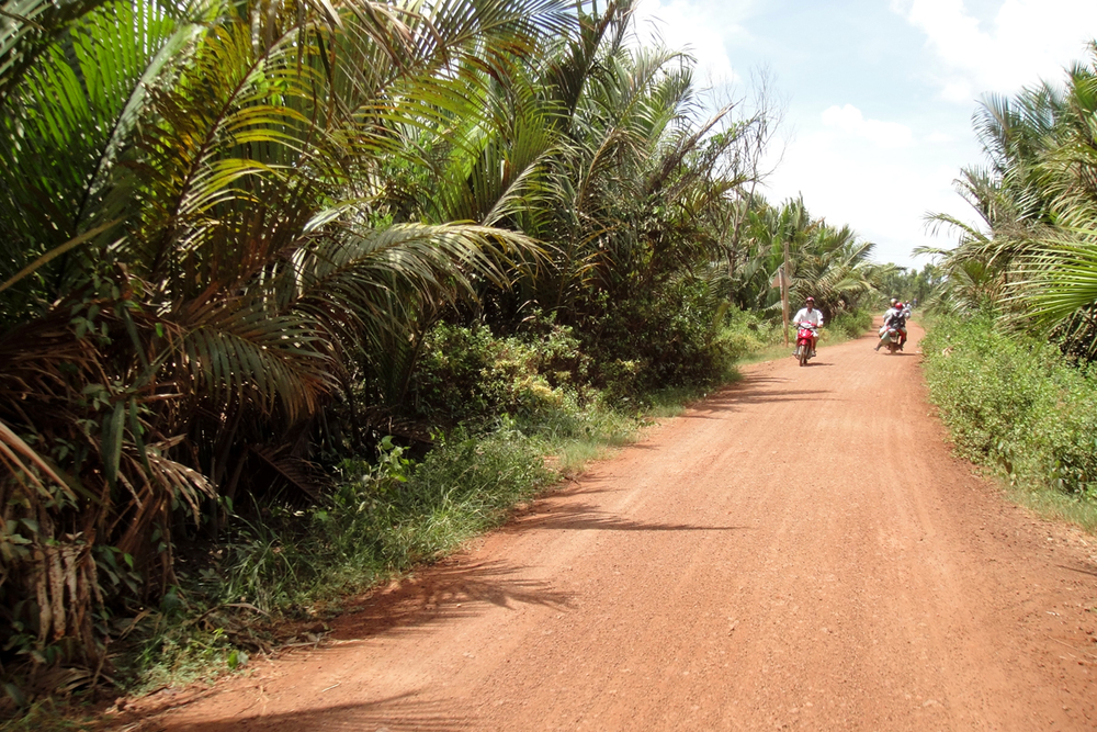 This was one of the wider dirt roads we were on.