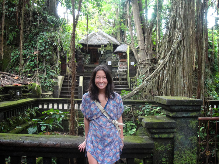 This is me in 2011, freshly arrived in Southeast Asia and on my first visit to Bali. Dress from Jesse James NYC, suimsuit from James Perse.