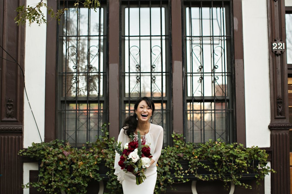 Me and my bouquet in front of my Soho brownstone. Just kidding. Bouquet's still mine though.