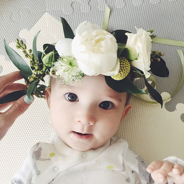 Don't forget, tomorrow! The first 10 shoppers to make a purchase at the @retykle pop-up shop at @maggieandrosehk receive a flower crown that looks just like one of these! Note: they're probably a little big for a 5 month old, but will fit perfectly on your little toddlers. (Or Moms!) 😉