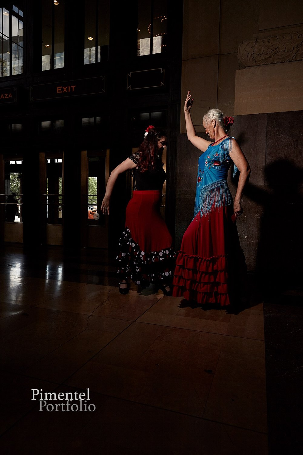 Vanessa Dominguez and Cheryl McMorris dance out a rhythm.