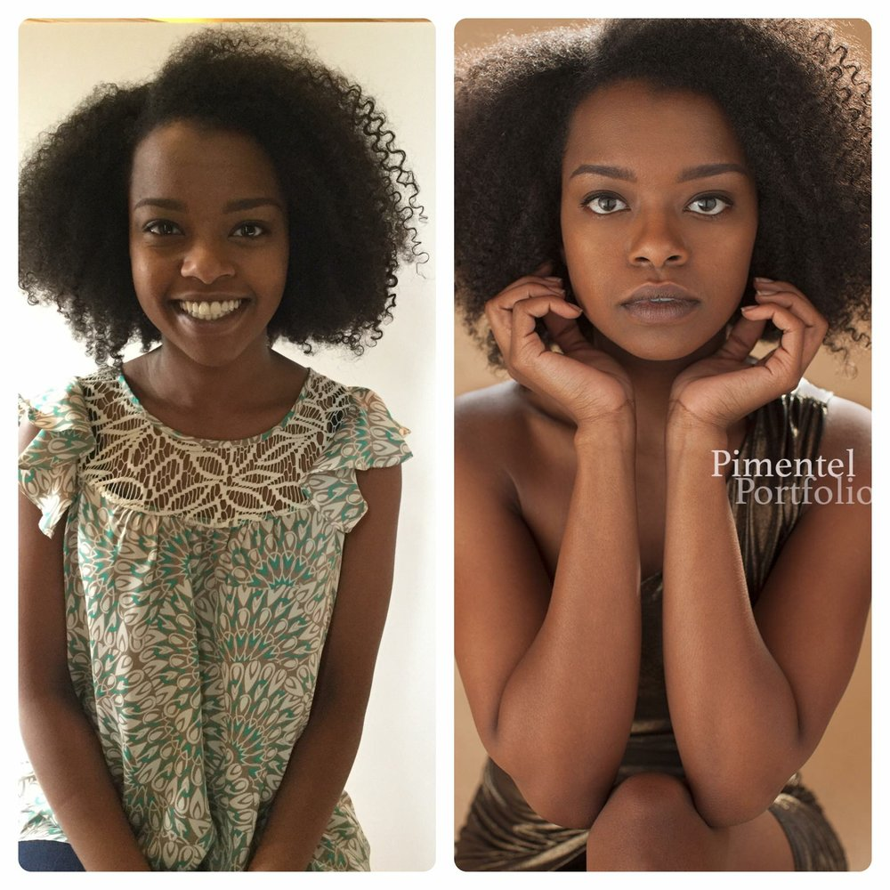 Before and after portrait session Pimentel Portfolio LLC a Kansas City Photographer
