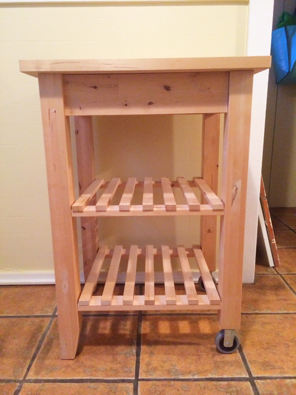 Diy Ikea Kitchen Cart Four Threads