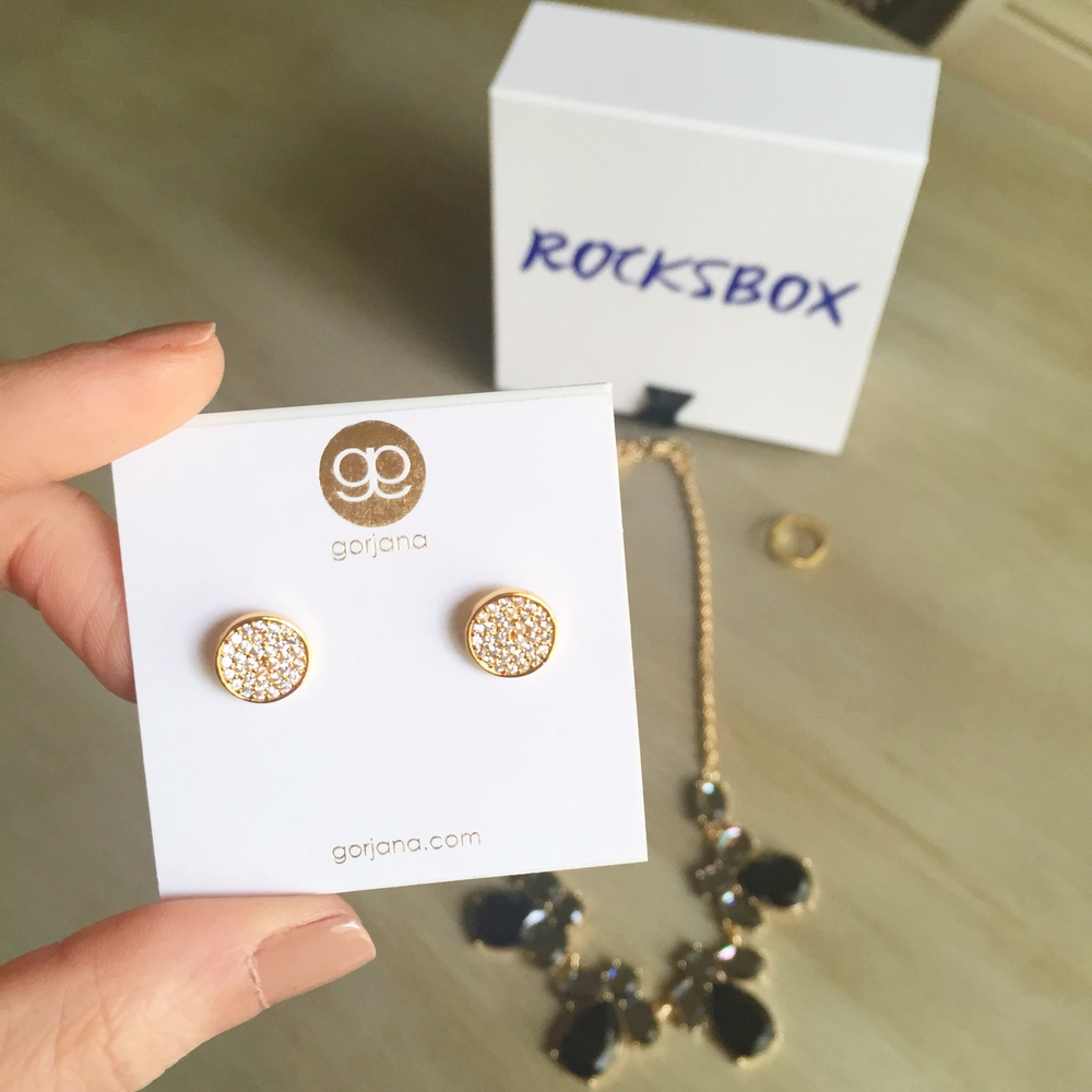 Love, love, love these Gorjana stud earrings. I looked them up and they normally retail for $45.