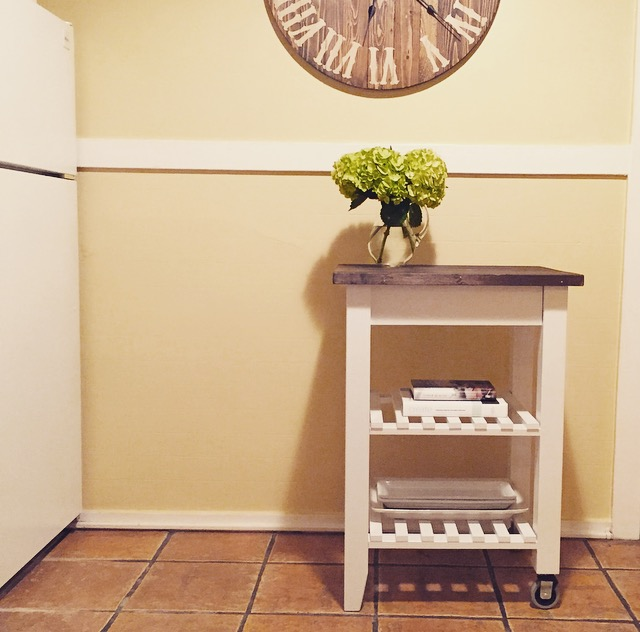 DIY Ikea Kitchen Cart Hack | Four Threads