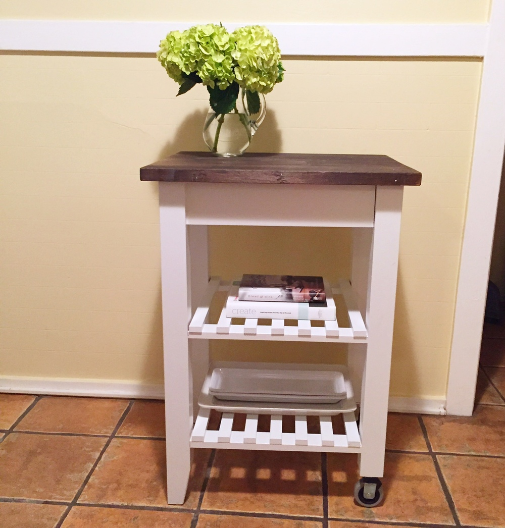 Diy ikea kitchen cart four threads for Bekvam kitchen cart