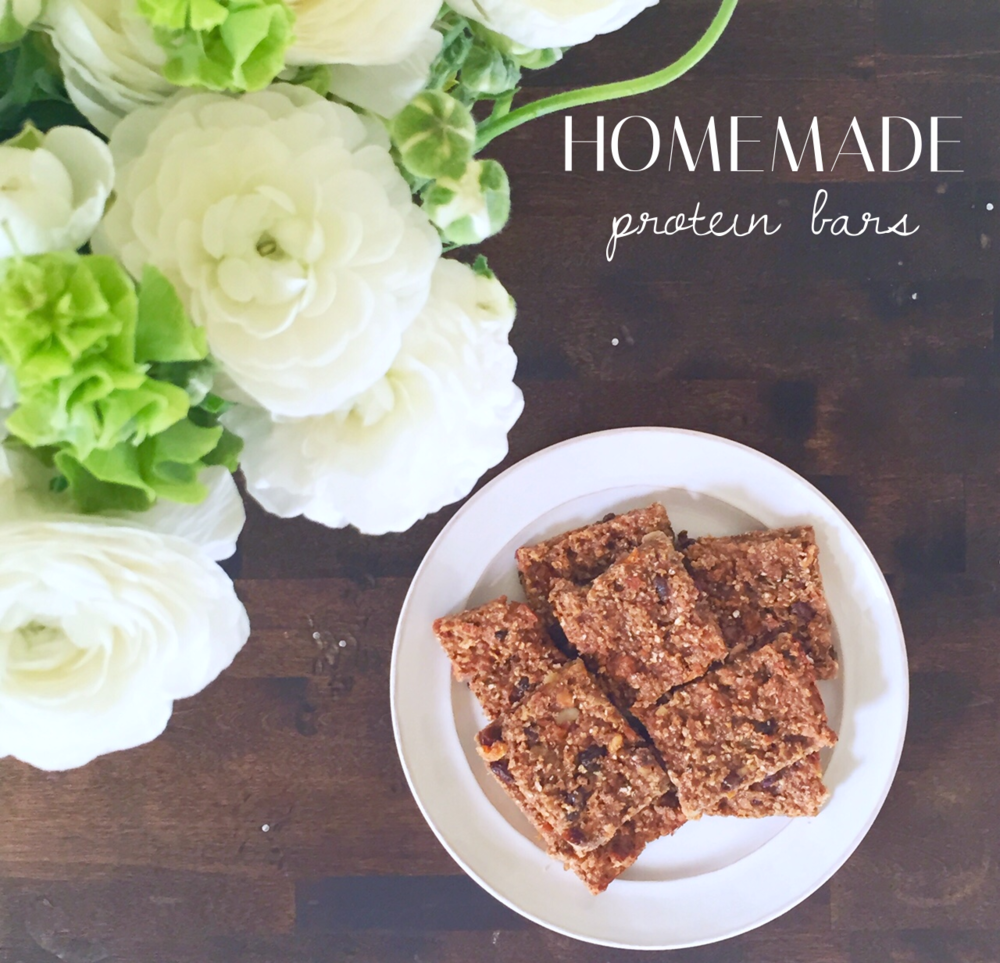 Healthy homemade protein bars