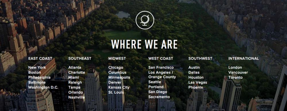 ClassPass locations