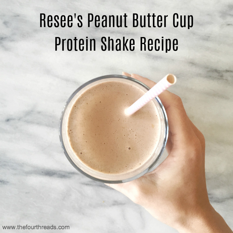 Reese's peanut butter cup protein shake recipe