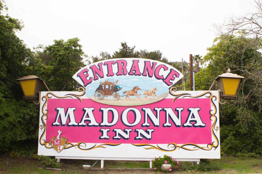 Madonna Inn entrance sign