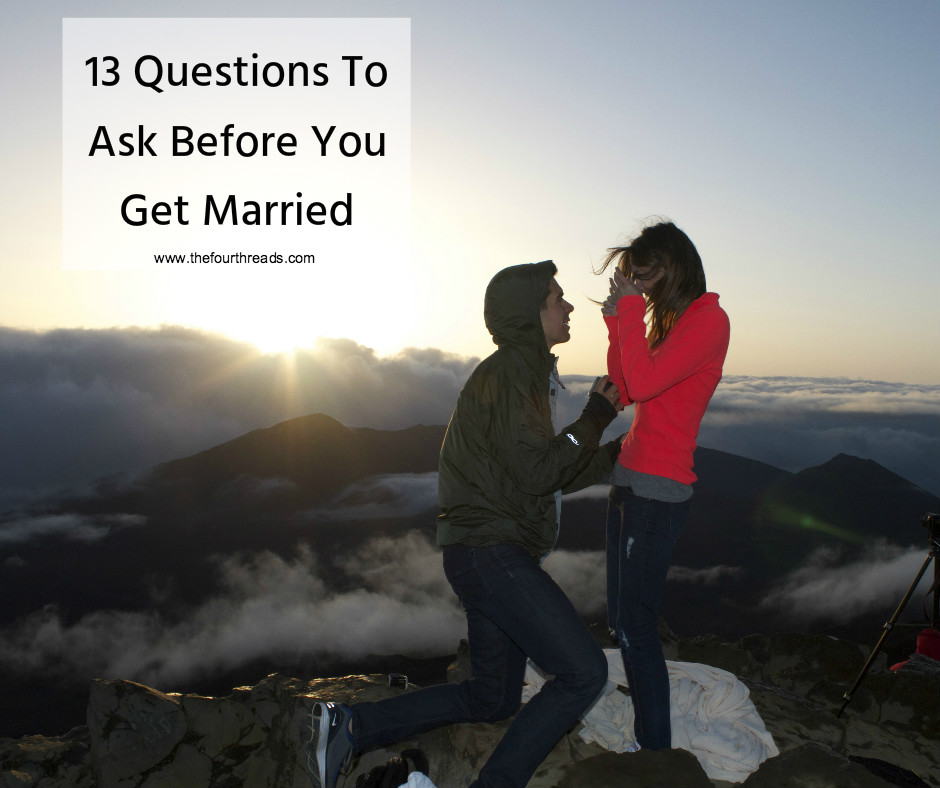 Questions you and your fiancé should talk about before you get married