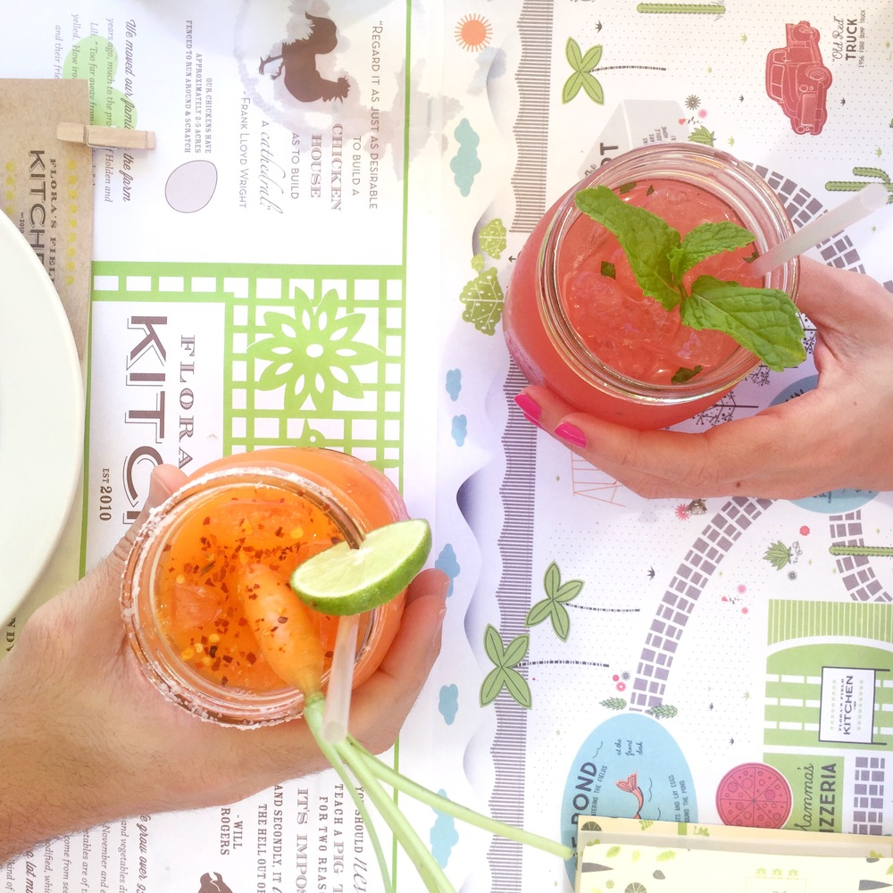 The best and most refreshing margarita recipe! A Carrot Margarita from Flora Farms in Cabo San Lucas, Mexico