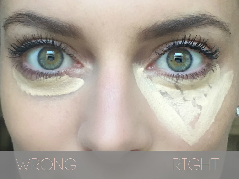 The right and wrong way you're applying your concealer.