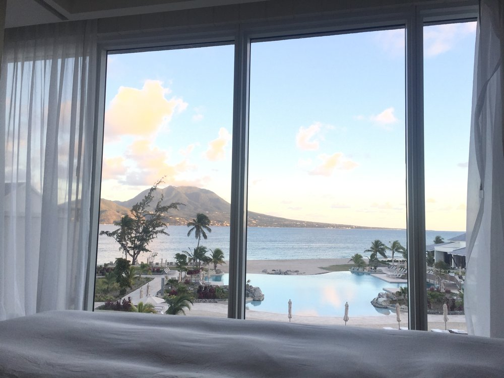 This was our view from bed! How gorgeous!
