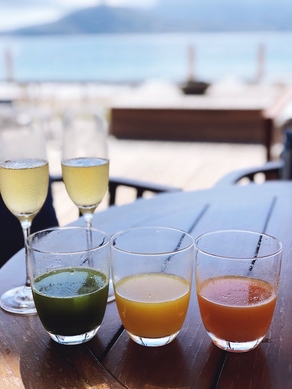 Fresh juices and champagne...yes please!
