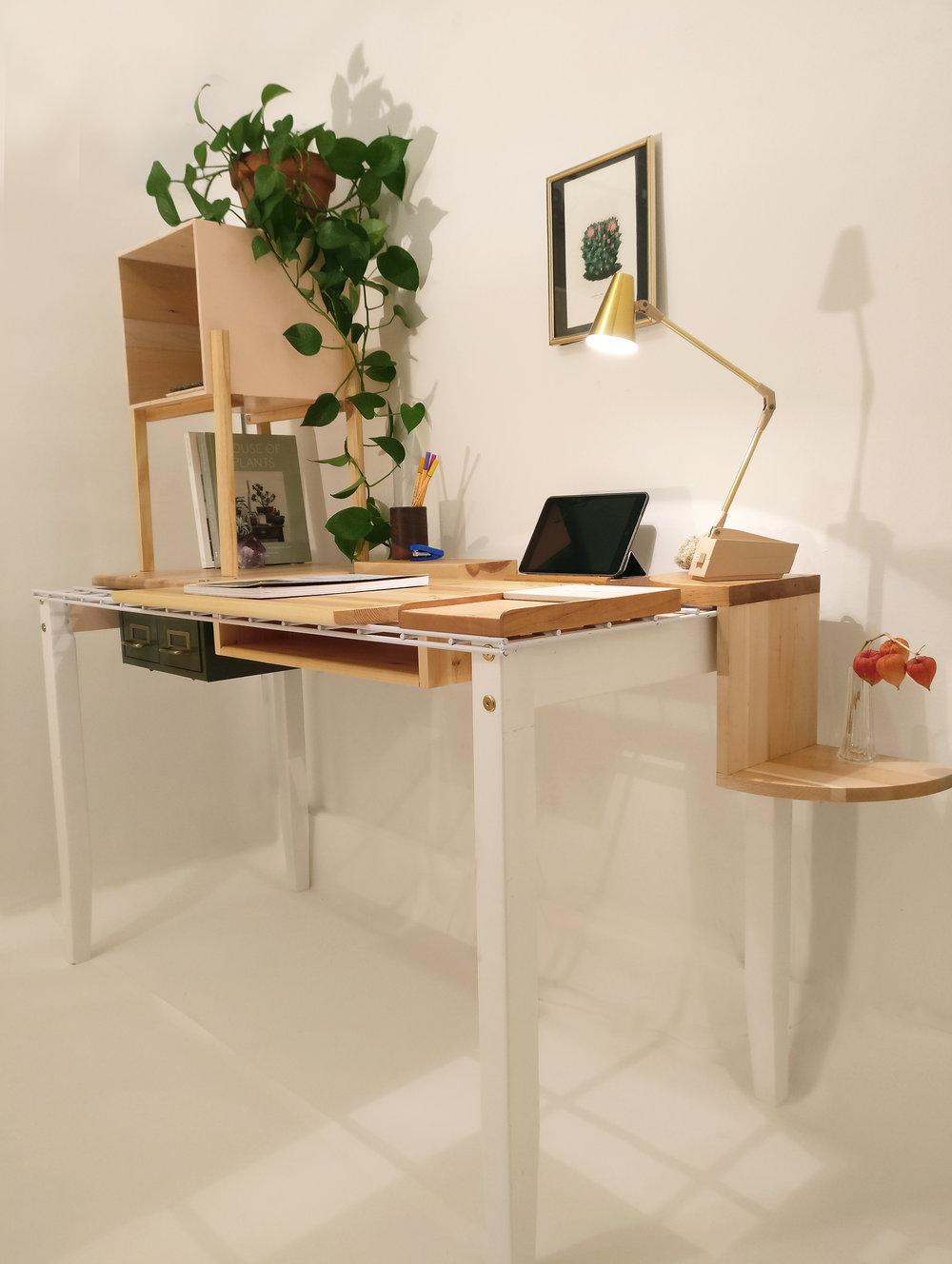 Nuvem desk, projecteighteight, designer, myriam rigaud, wood design, design object