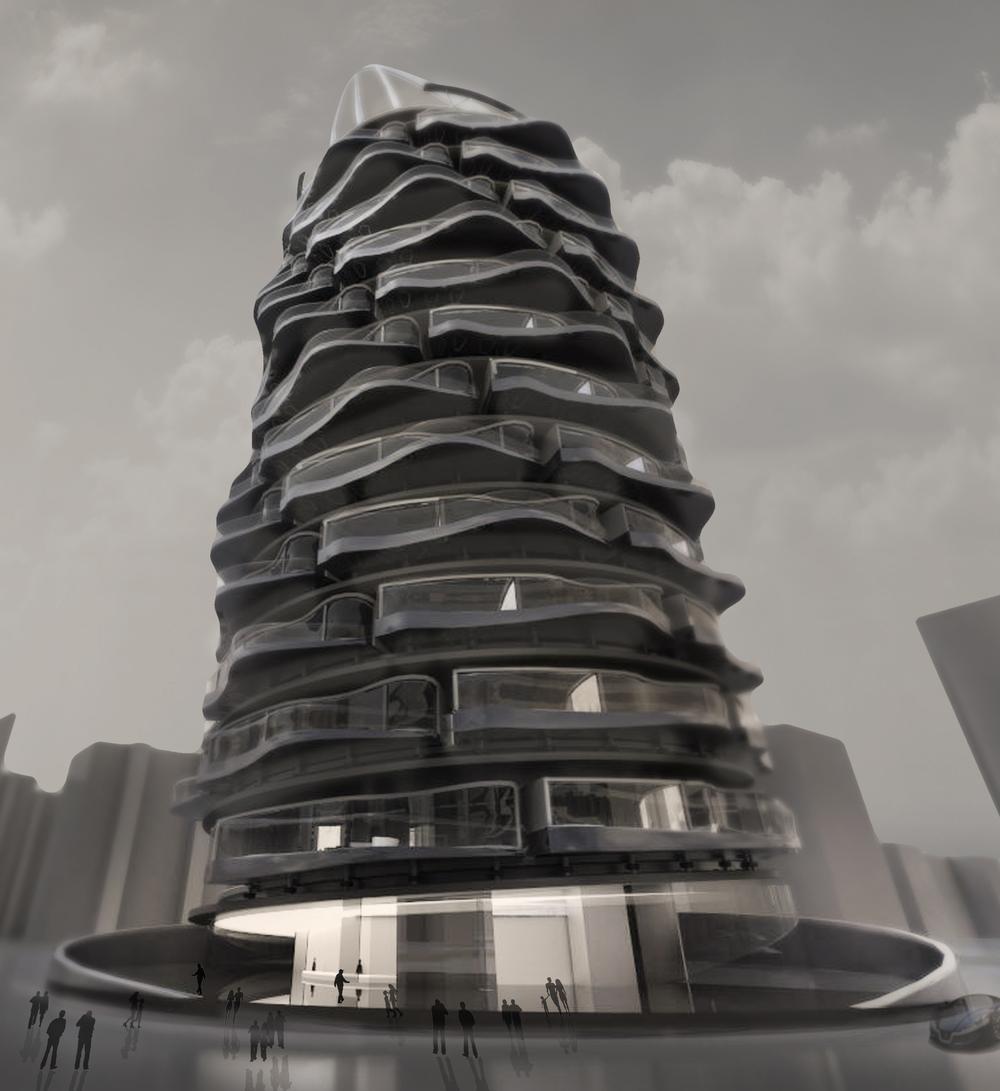 ساختمان دوار مارپیچی