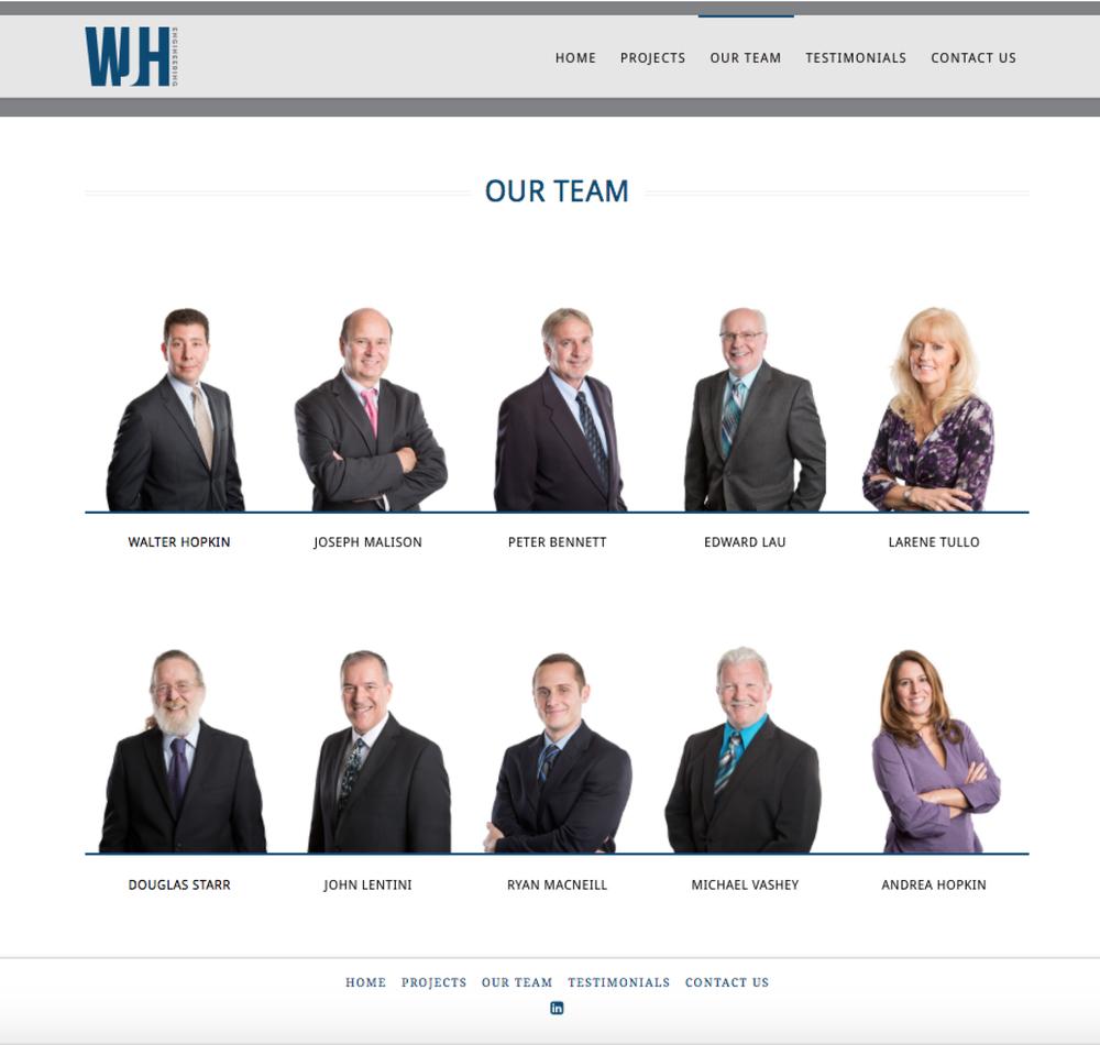 Team Landing Page