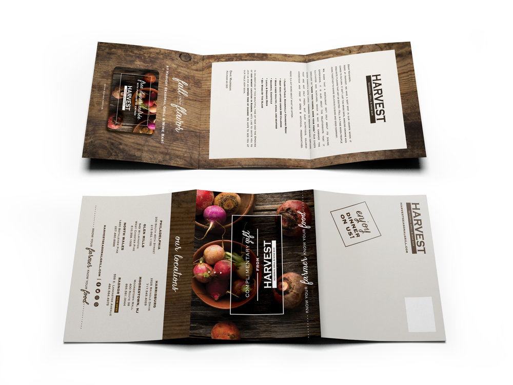 Harvest Seasonal Grill Fall 2016 Direct Mail