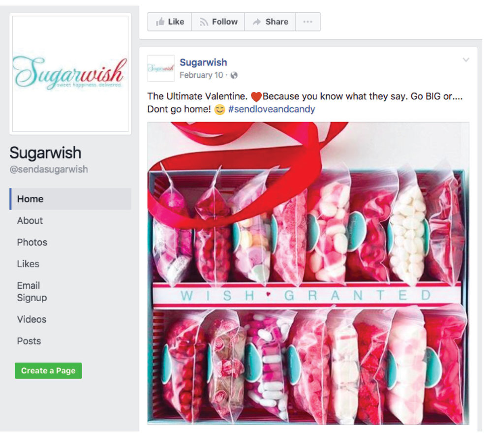 Sugarwish Facebook Page